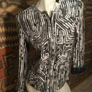 Black and white versatile jacket unique design, 6